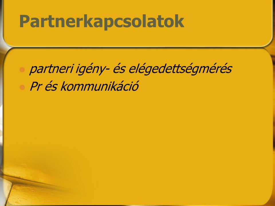 Partnerkapcsolatok partneri igény- és elégedettségmérés