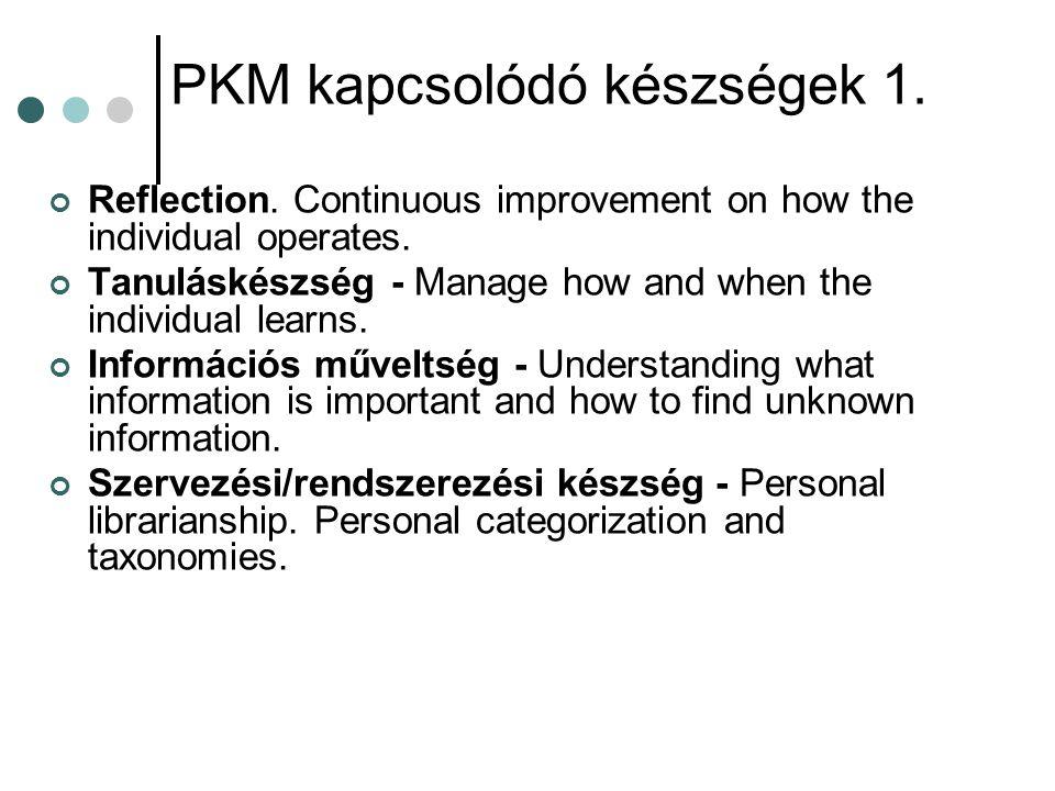 PKM kapcsolódó készségek 1.