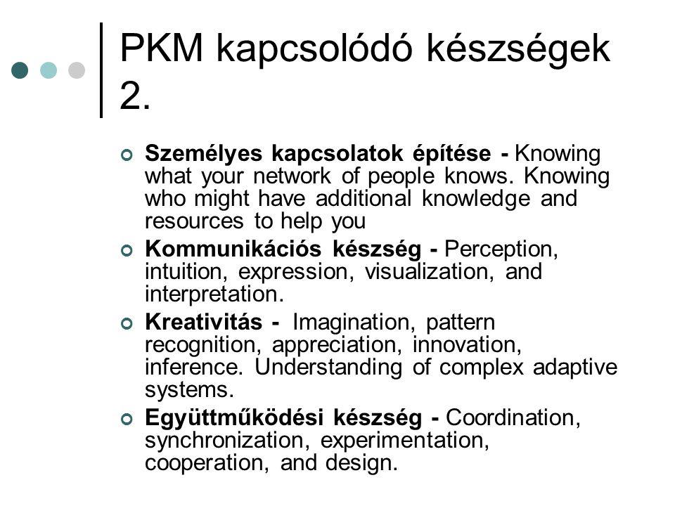 PKM kapcsolódó készségek 2.