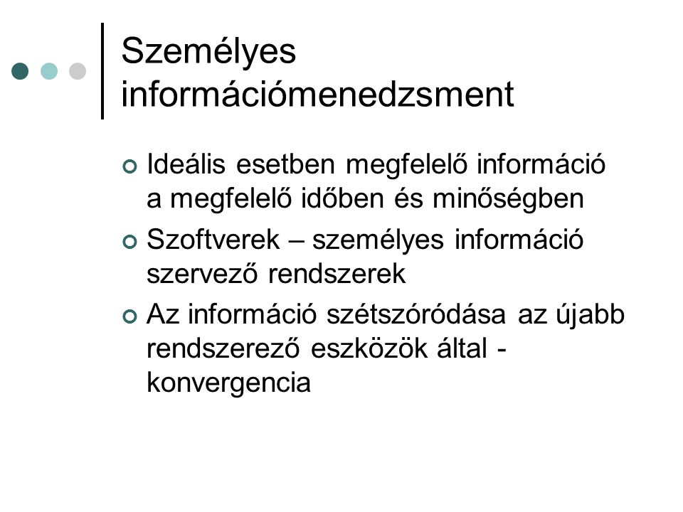 Személyes információmenedzsment