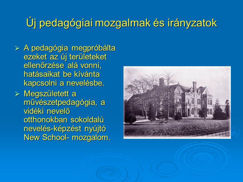Új pedagógiai mozgalmak és irányzatok