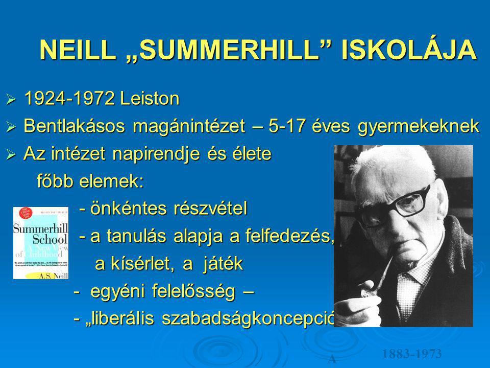 "NEILL ""SUMMERHILL ISKOLÁJA"
