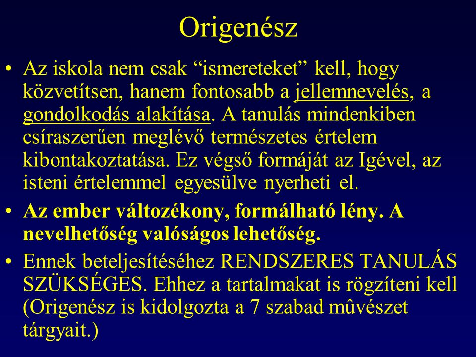 Origenész