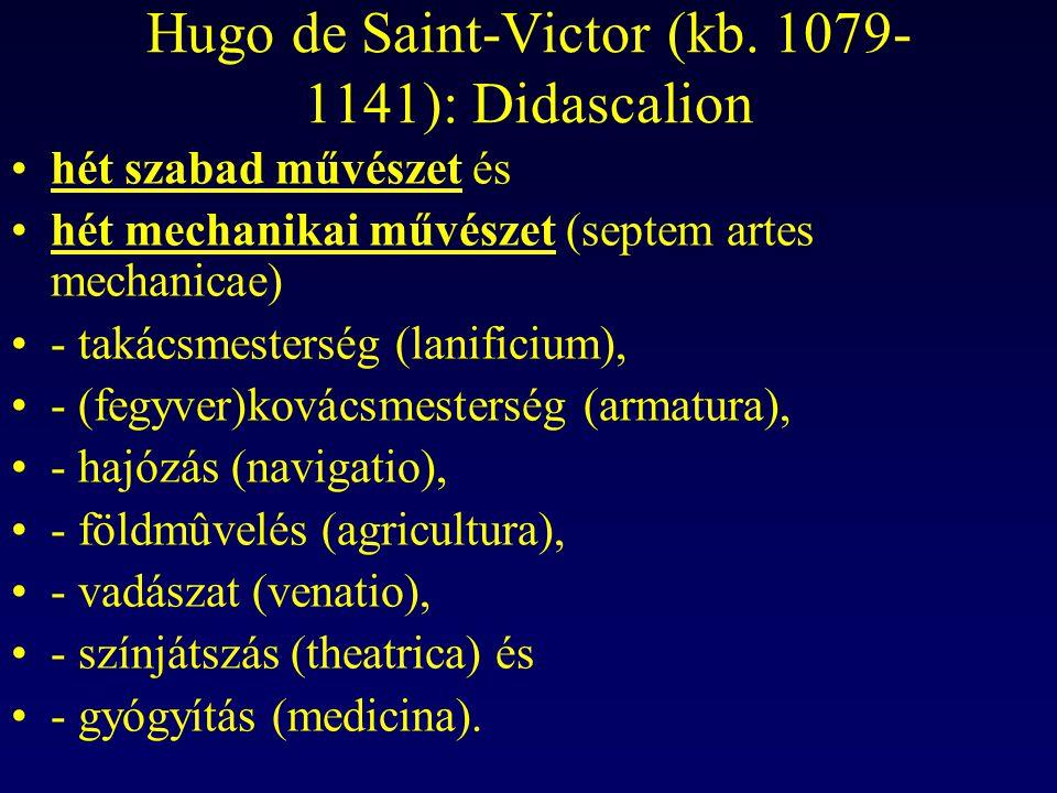 Hugo de Saint-Victor (kb. 1079-1141): Didascalion