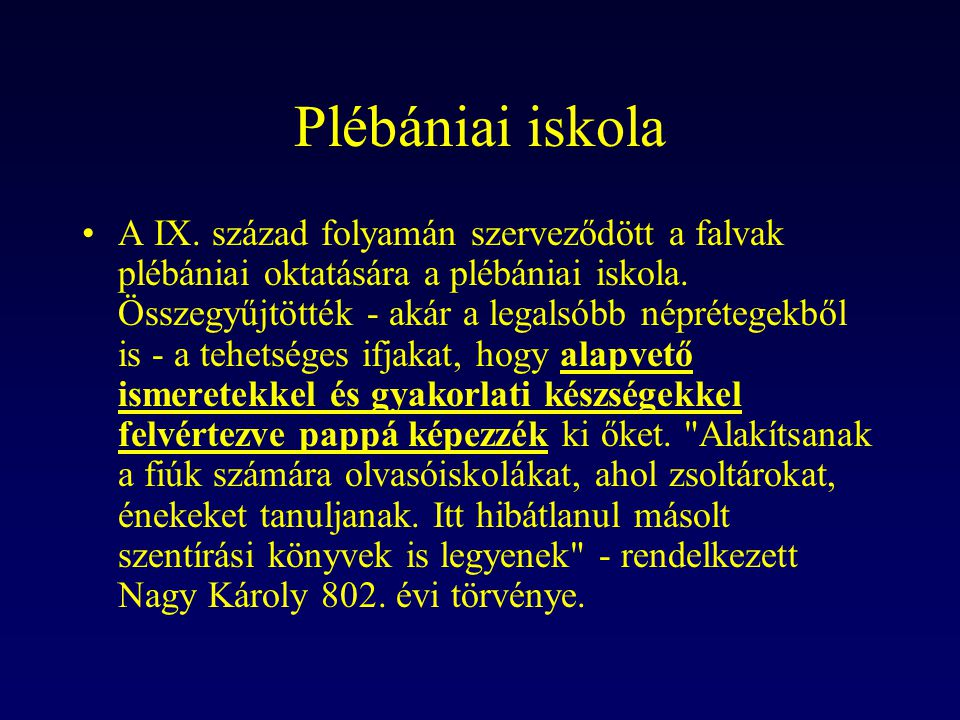 Plébániai iskola
