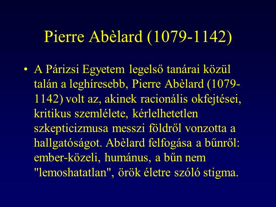 Pierre Abèlard (1079-1142)
