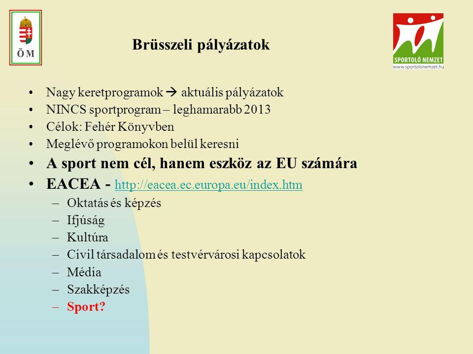 A sport nem cél, hanem eszköz az EU számára