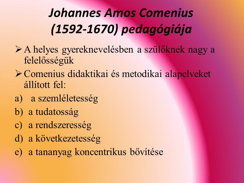 Johannes Amos Comenius (1592-1670) pedagógiája