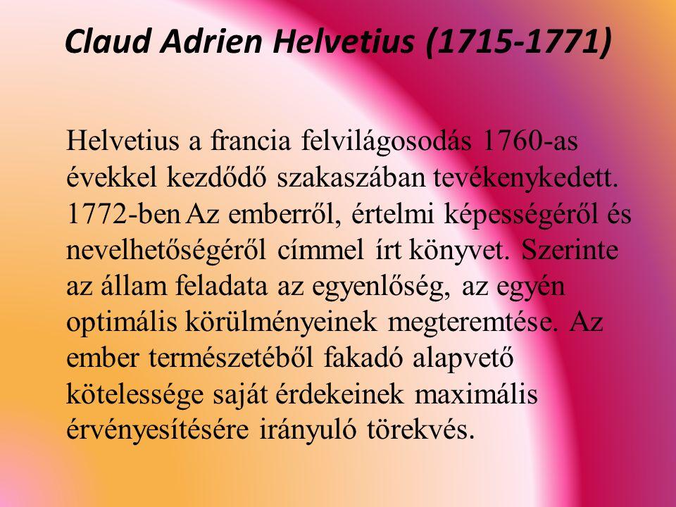 Claud Adrien Helvetius (1715-1771)