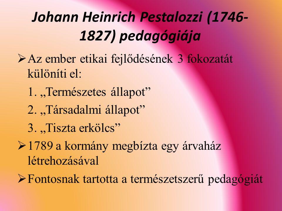 Johann Heinrich Pestalozzi (1746-1827) pedagógiája