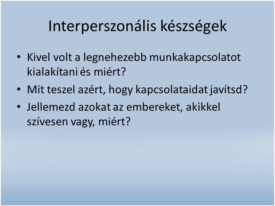 Interperszonális készségek