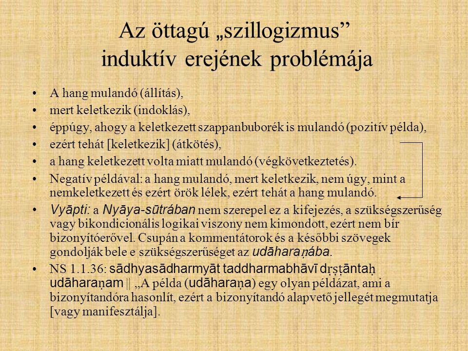 """Az öttagú """"szillogizmus induktív erejének problémája"""
