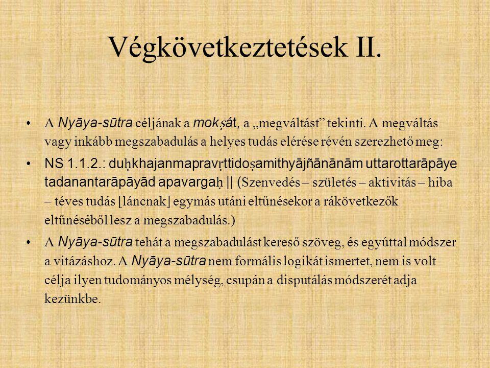 Végkövetkeztetések II.