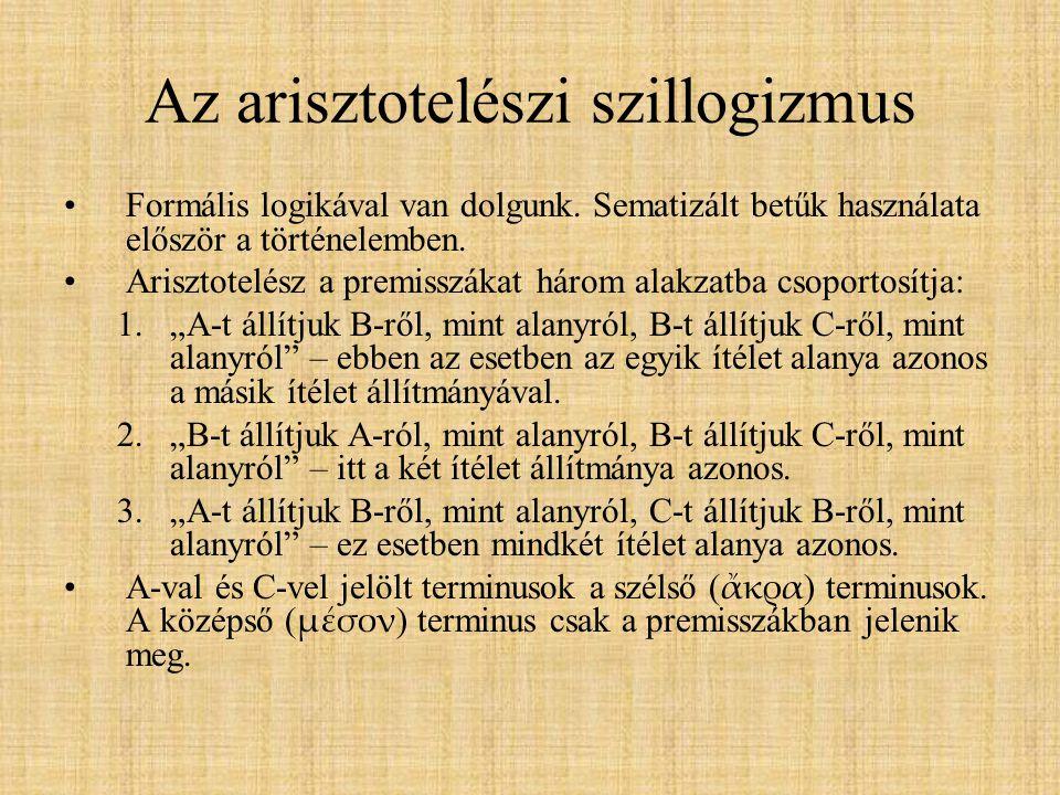 Az arisztotelészi szillogizmus
