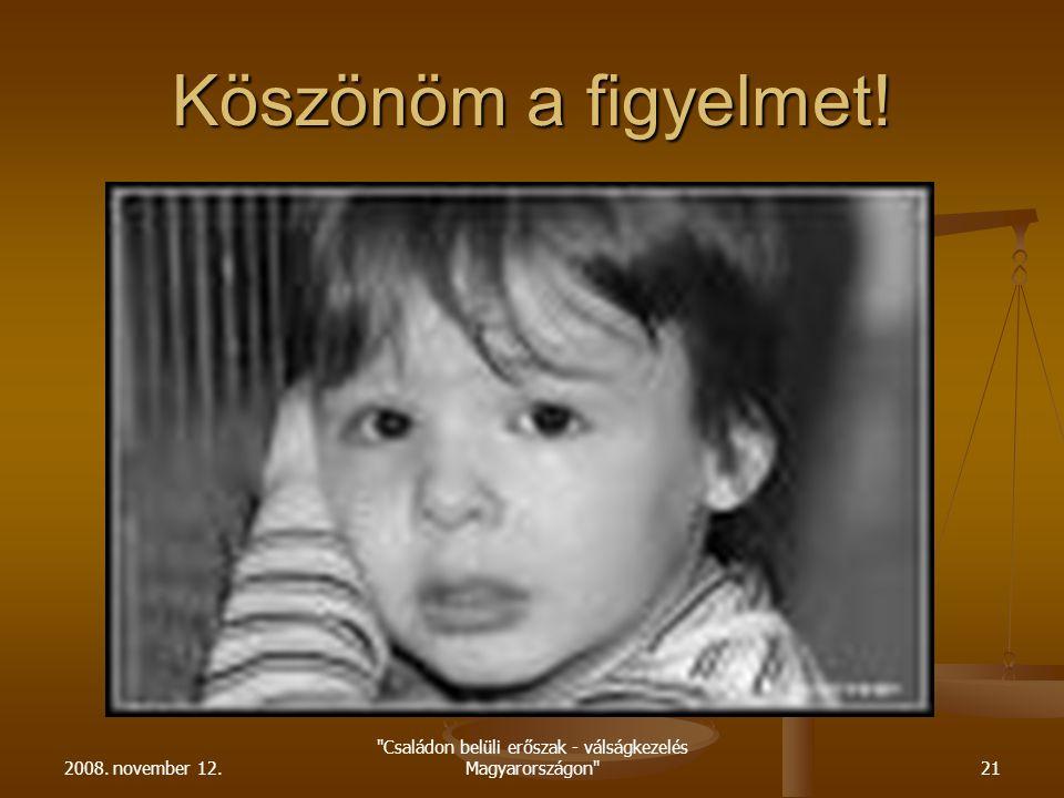 Családon belüli erőszak - válságkezelés Magyarországon