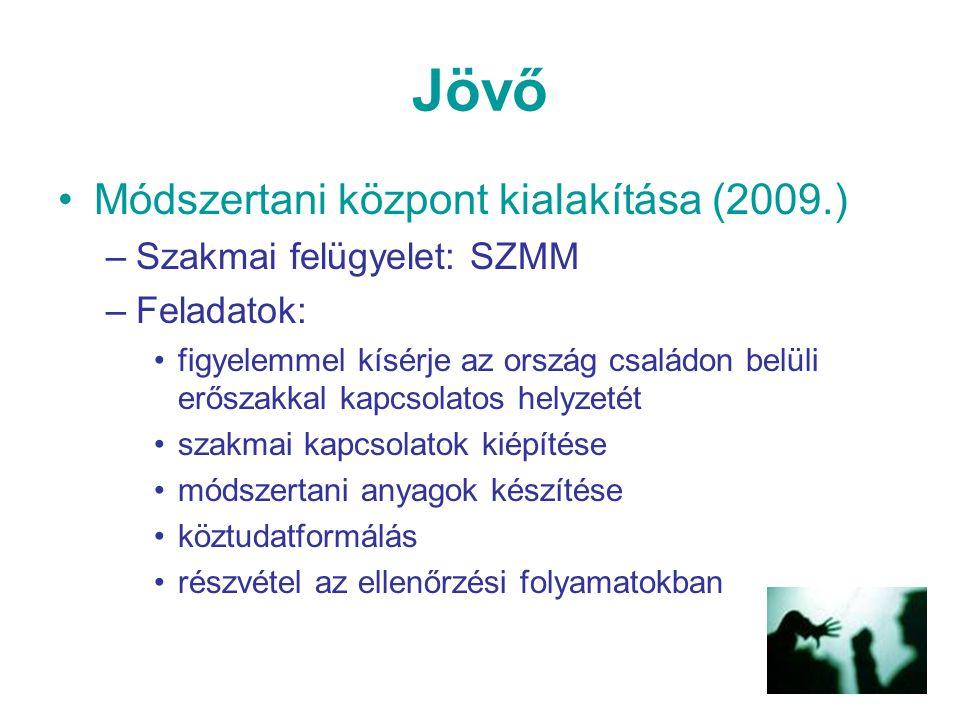 Jövő Módszertani központ kialakítása (2009.) Szakmai felügyelet: SZMM