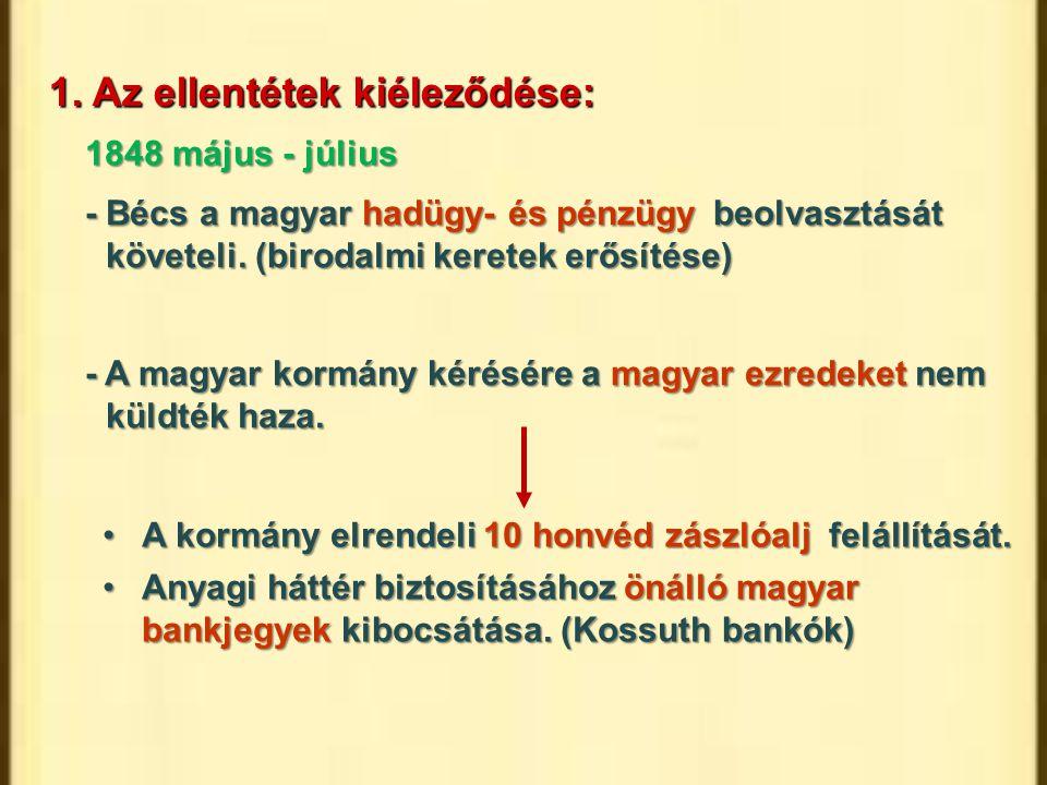 A kormány elrendeli 10 honvéd zászlóalj felállítását.