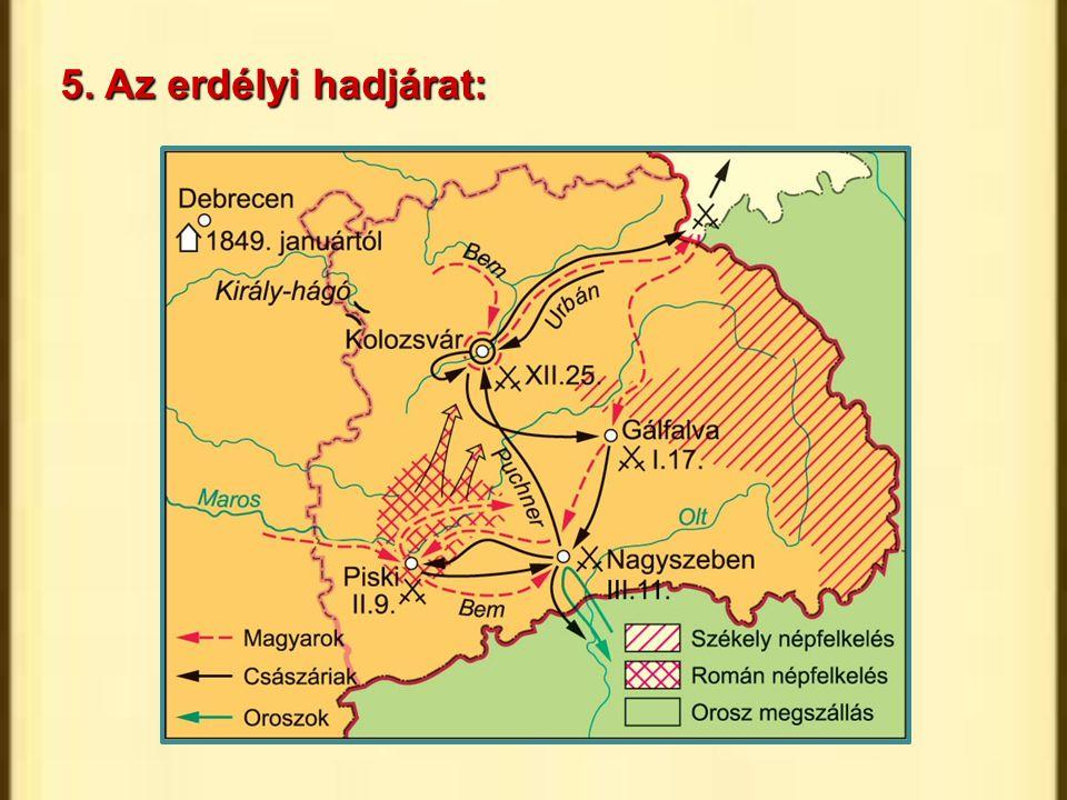 5. Az erdélyi hadjárat: