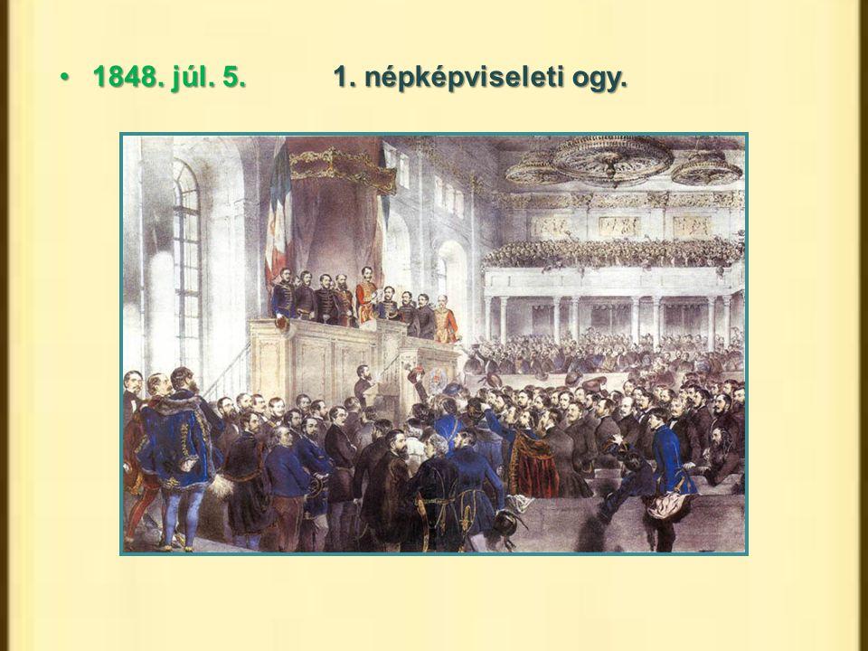 1848. júl. 5. 1. népképviseleti ogy.