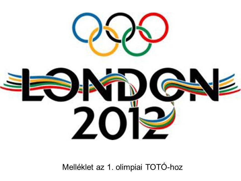 Melléklet az 1. olimpiai TOTÓ-hoz