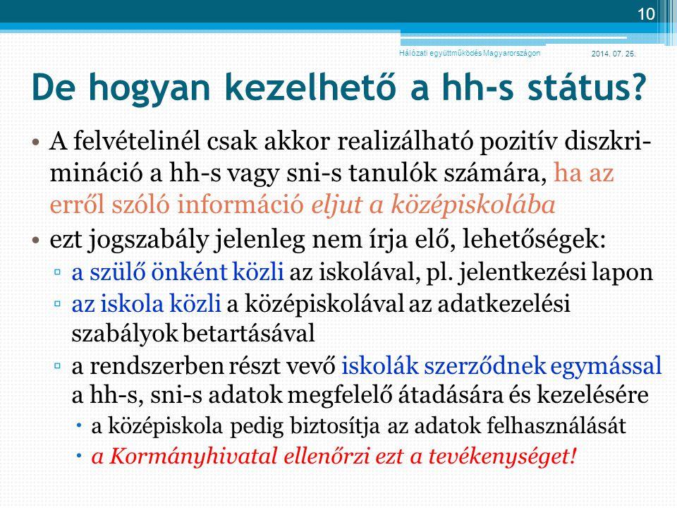 De hogyan kezelhető a hh-s státus