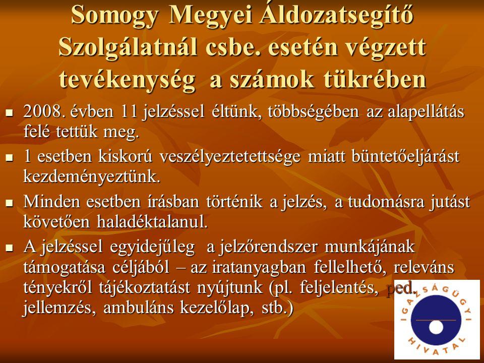 Somogy Megyei Áldozatsegítő Szolgálatnál csbe