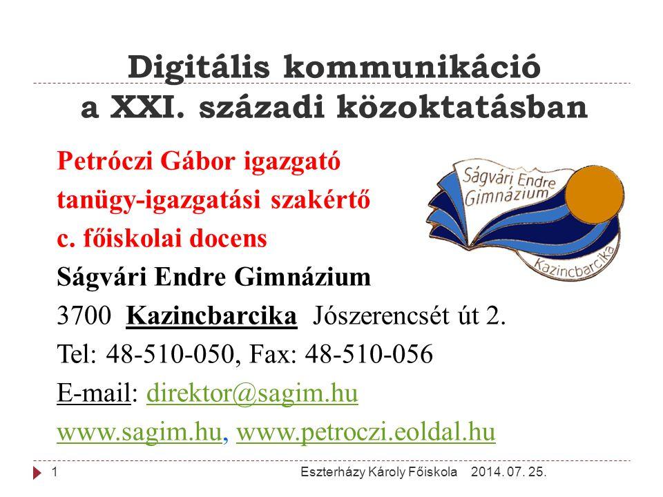 Digitális kommunikáció a XXI. századi közoktatásban