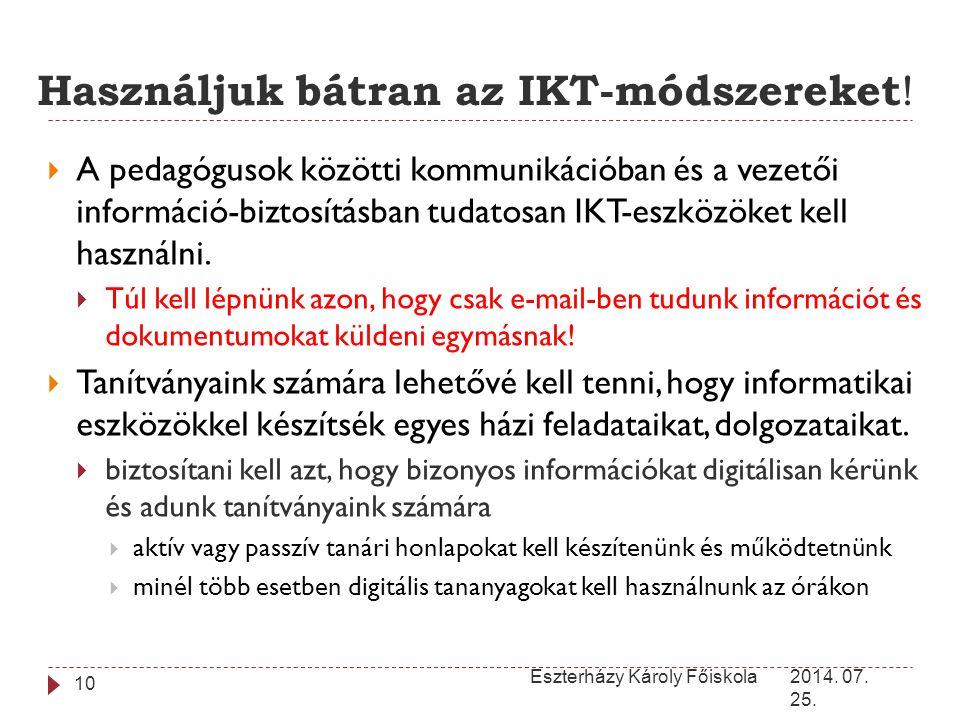 Használjuk bátran az IKT-módszereket!