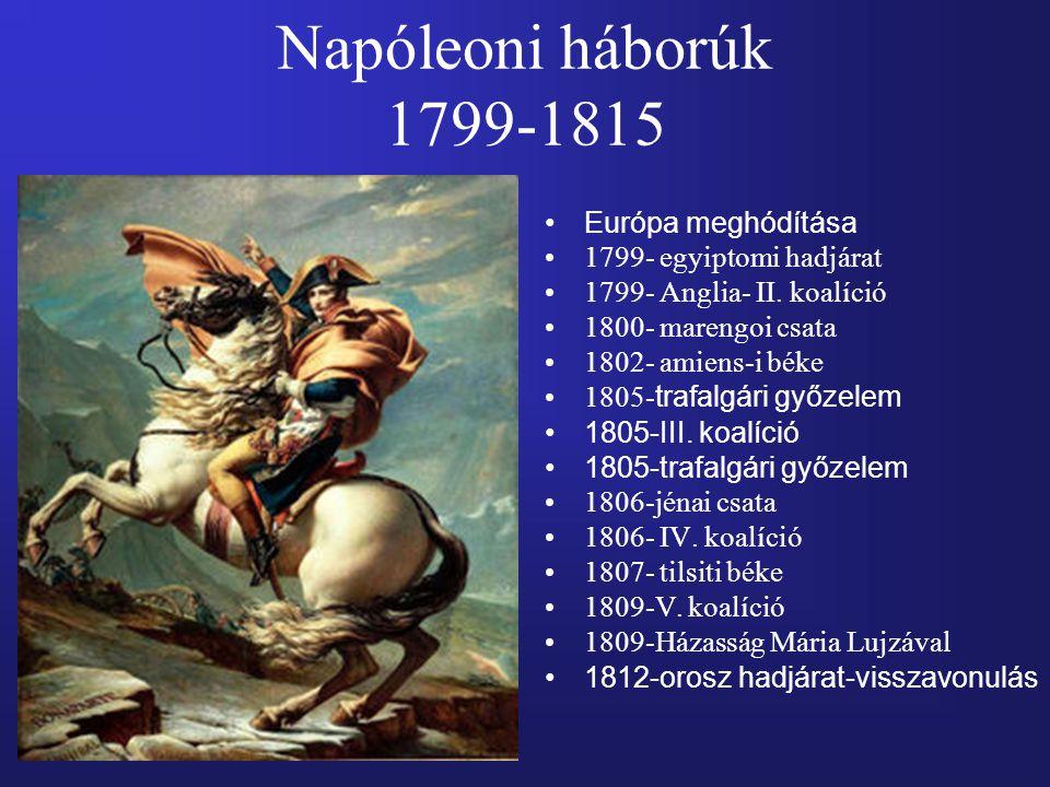 Napóleoni háborúk 1799-1815 Európa meghódítása