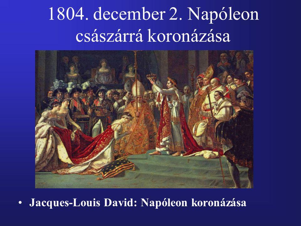 1804. december 2. Napóleon császárrá koronázása