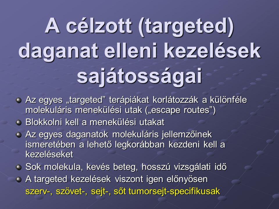 A célzott (targeted) daganat elleni kezelések sajátosságai