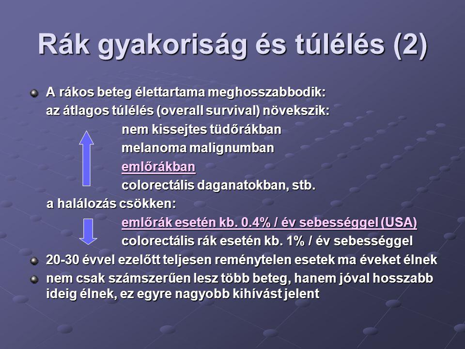 Rák gyakoriság és túlélés (2)