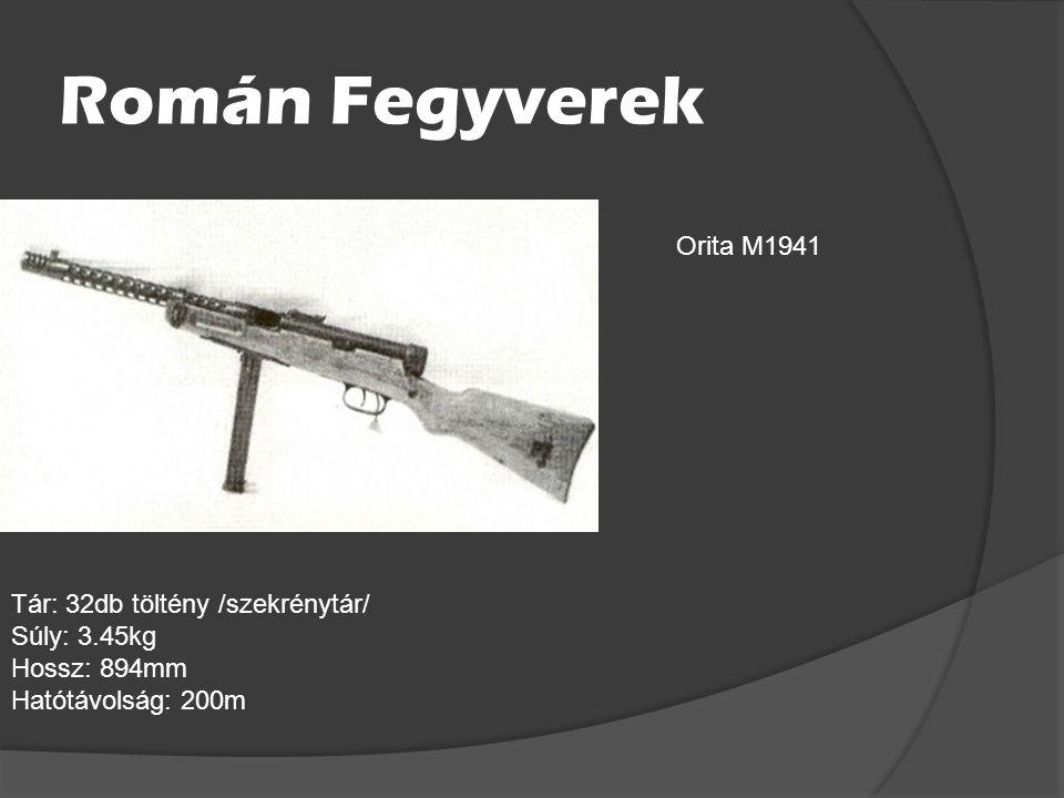 Román Fegyverek Orita M1941 Tár: 32db töltény /szekrénytár/