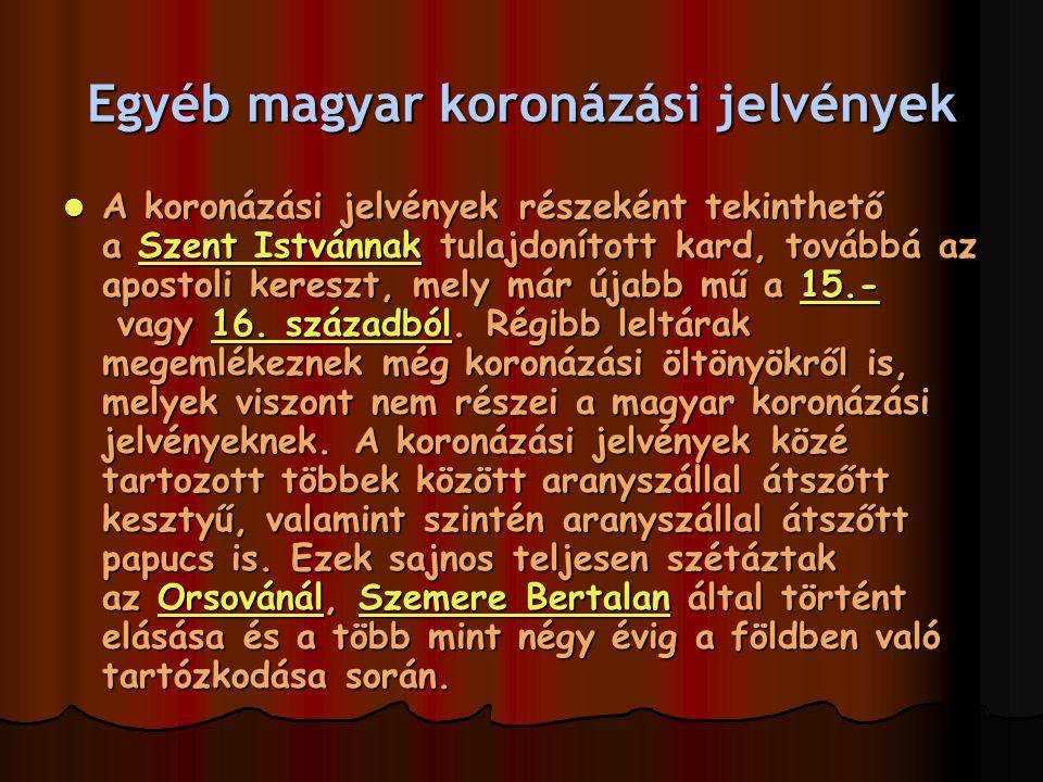 Egyéb magyar koronázási jelvények