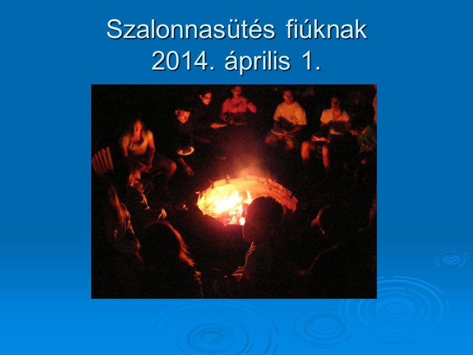 Szalonnasütés fiúknak 2014. április 1.