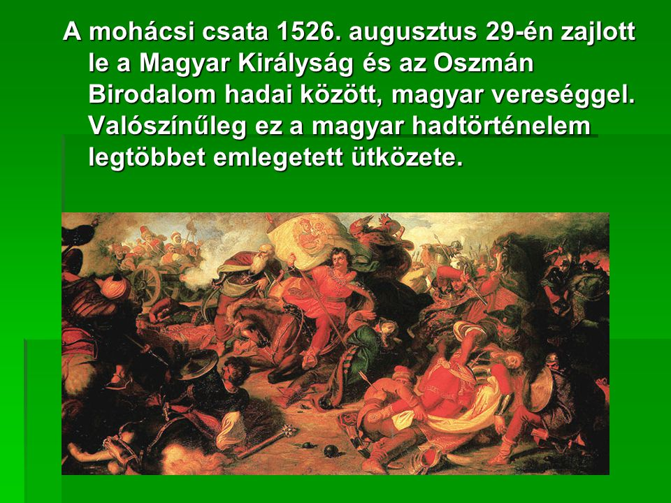 A mohácsi csata 1526.
