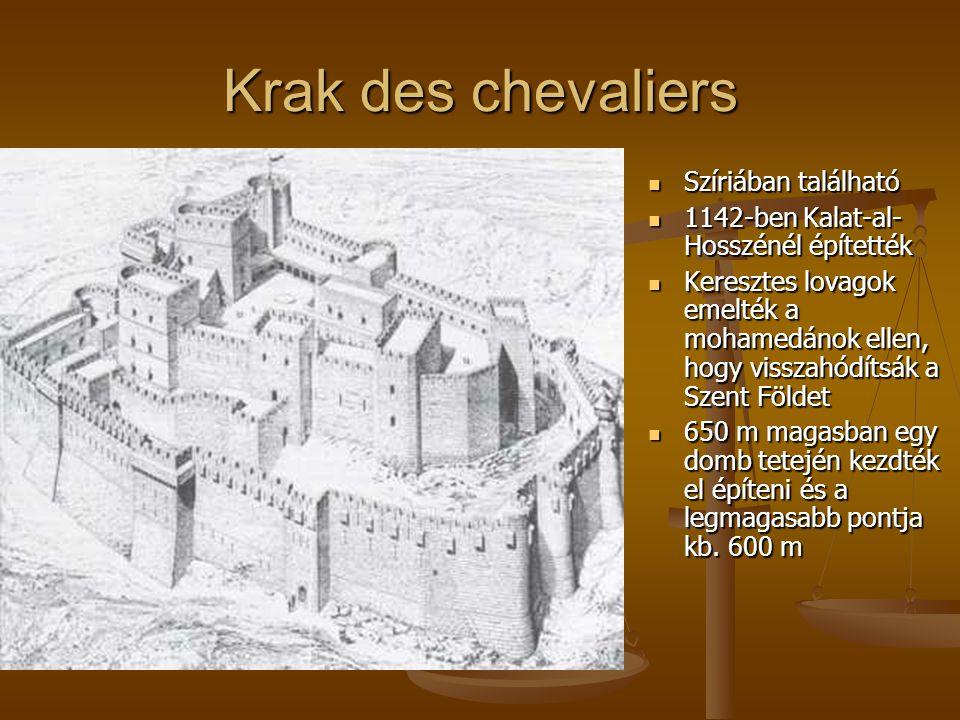 Krak des chevaliers Szíriában található
