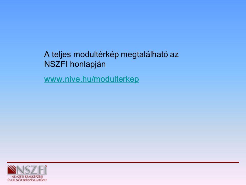 A teljes modultérkép megtalálható az NSZFI honlapján