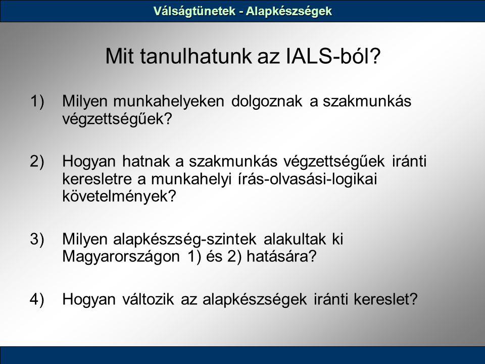 Mit tanulhatunk az IALS-ból