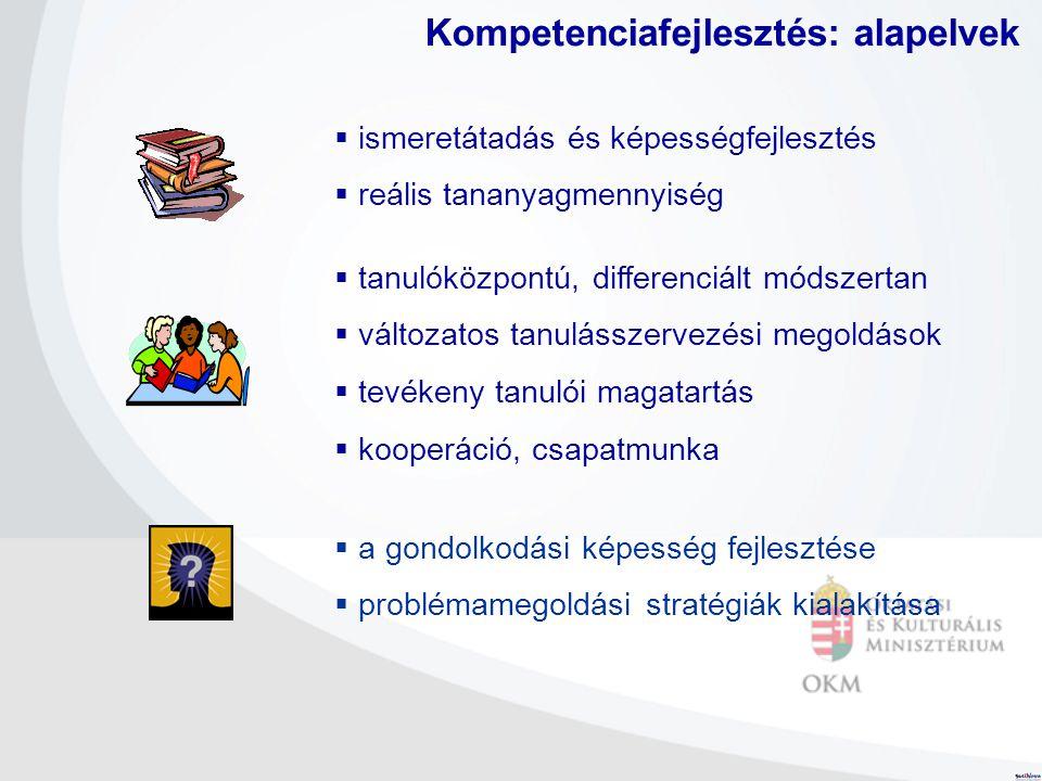 Kompetenciafejlesztés: alapelvek