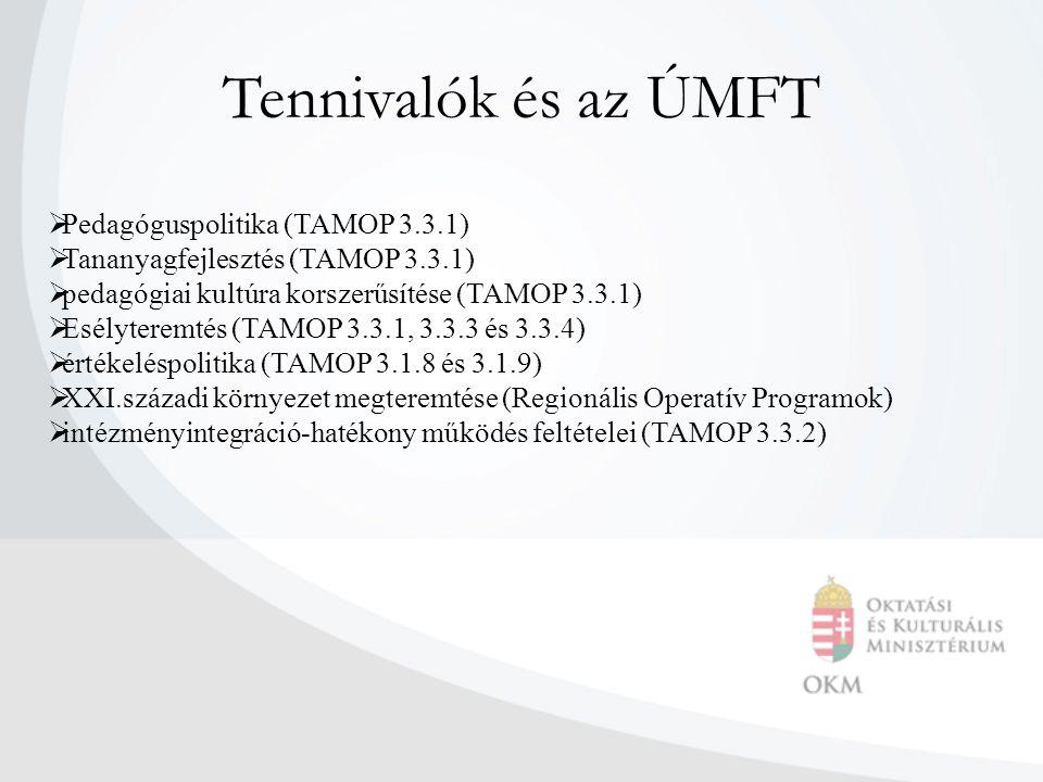 Tennivalók és az ÚMFT Pedagóguspolitika (TAMOP 3.3.1)