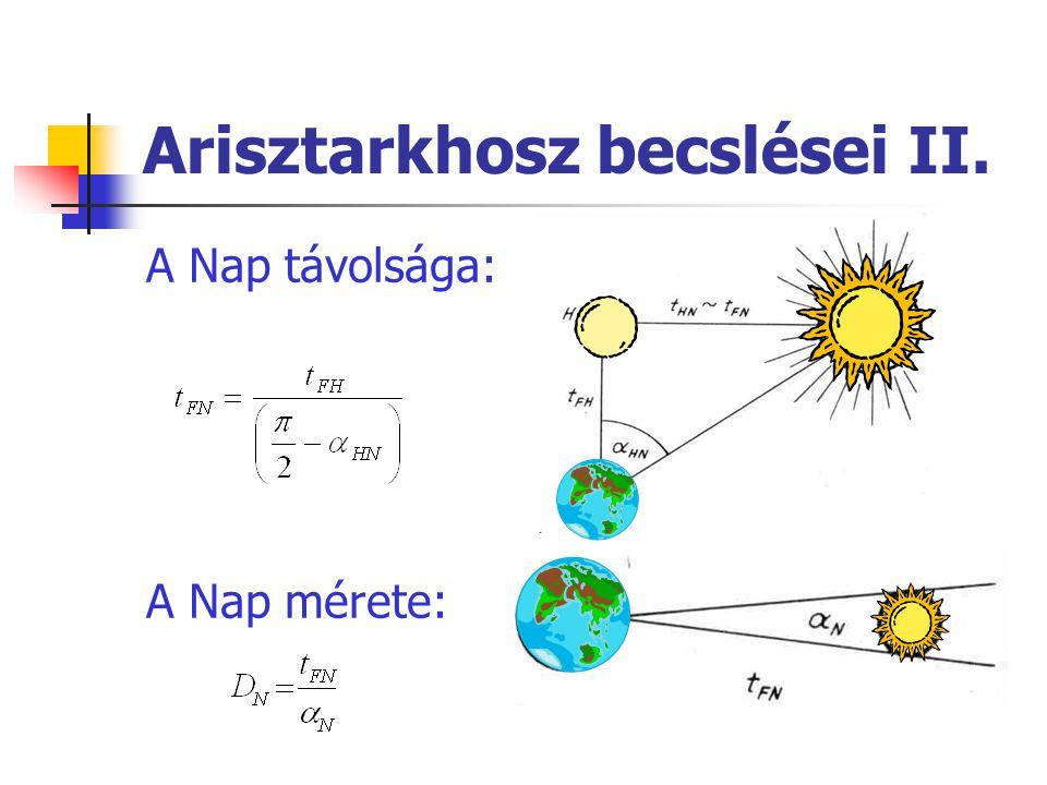 Arisztarkhosz becslései II.