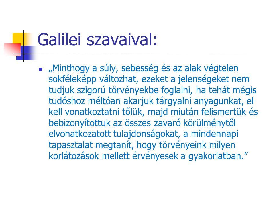 Galilei szavaival: