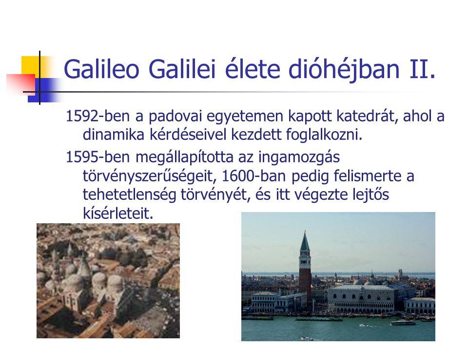 Galileo Galilei élete dióhéjban II.