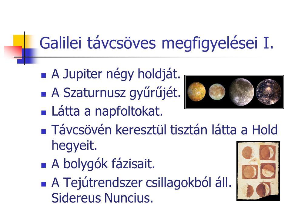 Galilei távcsöves megfigyelései I.