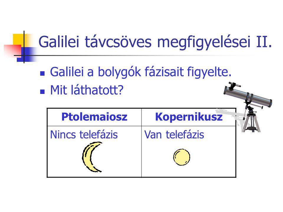 Galilei távcsöves megfigyelései II.