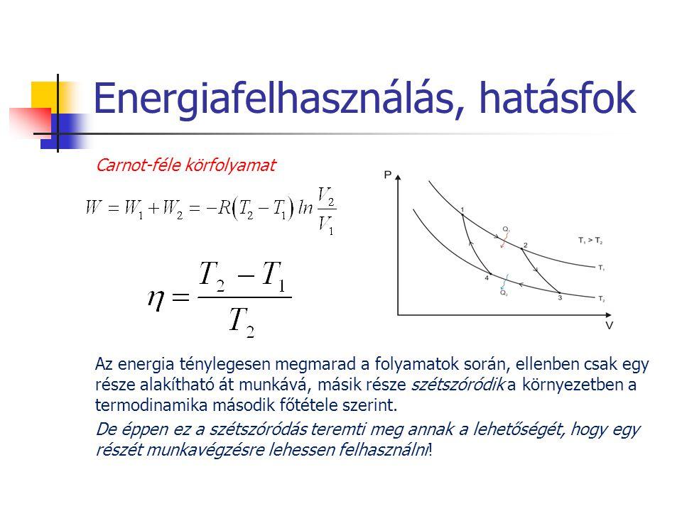 Energiafelhasználás, hatásfok