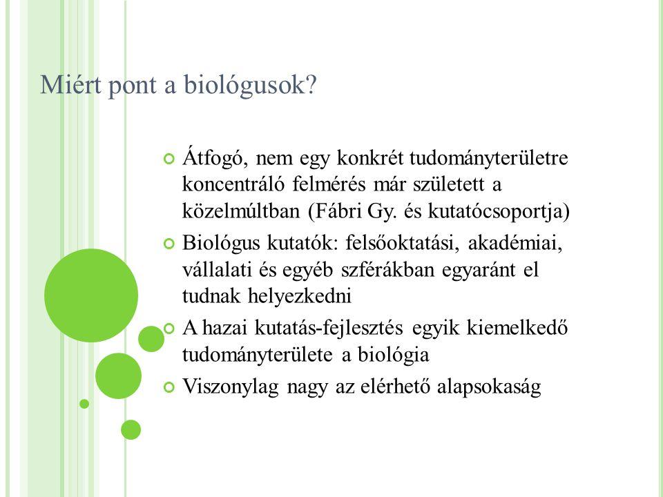 Miért pont a biológusok