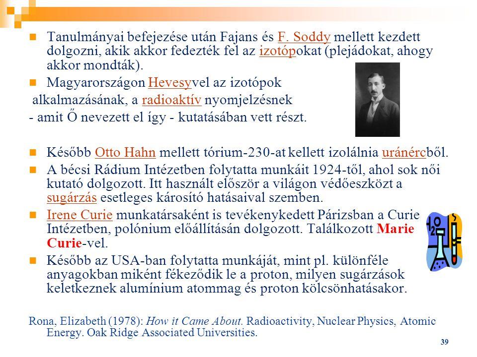 Magyarországon Hevesyvel az izotópok