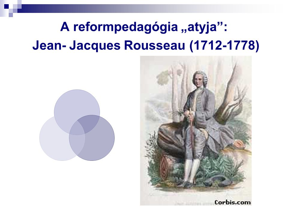 "A reformpedagógia ""atyja : Jean- Jacques Rousseau (1712-1778)"